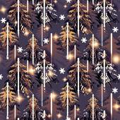 Purple  forest  pattern — Stock Photo