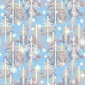 Blue and gray    forest  pattern — Stock Photo