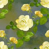 Yellow roses pattern — Stock Photo