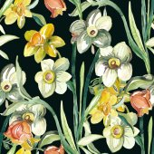 Narcissus flowers pattern — Stock Photo