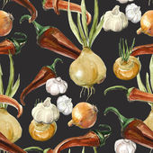 Spices seamless pattern — Stock Photo