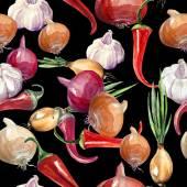 Ail et oignon poivre — Photo
