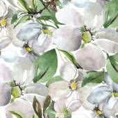 Flowers of apple seamless pattern — Stock Photo