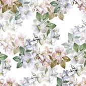 Flowers apple seamless pattern — Stock Photo
