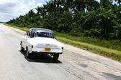Vintage cuban car — Stock Photo