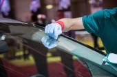 Repair car windshield — Stock Photo