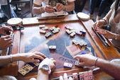Domino table game — Foto de Stock