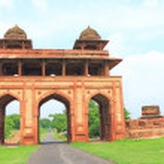 Massive Fatehpur Sikri fort and complex Uttar Pradesh India — Stock Photo #60113329