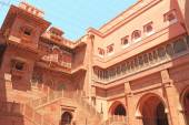 Junagarh red Fort Bikaner rajasthan india — Stock Photo