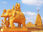 Elephant and rider statue gujarat india — Stock Photo