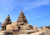 Thirukadalmallai Shore Temple mamallapurna tamil nadu india — Stock Photo