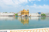 Amritsar goldent temple complex punjab india — Stock Photo