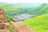 View from bundi fort and palace india — Stock Photo