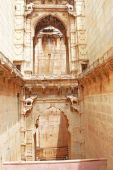 Delicately carved Queen's Step well. Rani Nathawat bundi india — Stock Photo