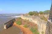 Beautifully maintained fort diu gujarat india — Stockfoto