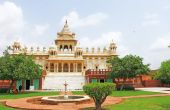 Glowing marble monument of Jaswant Thada jodhpur rajasthan india — Foto de Stock