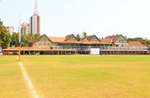 Mumbai cricket pavilion and ground india — Stock Photo