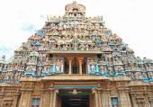 Sri Ranganathaswamy Temple or Thiruvarangam Tamil, trichy tamil — Stock Photo