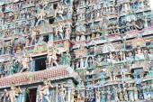 Masivní starověkého chrámu komplexu chidambaram Tamilnádu Indie — Stock fotografie