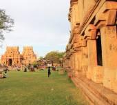 Brihadeshwara Temple and grounds, tanjore Thanjavur tamil nadu i — Stock Photo