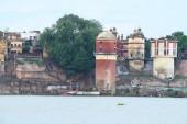 Ghats along the river gangas ganges Varanasi — Stock Photo