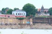 Ghats along the river gangas ganges Varanasi — Foto Stock