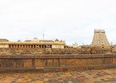Massive ancient temple complex chidambaram tamil nadu india — Stock Photo