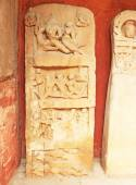 Ancient carvings inside this stunning 8th-century Gwalior fort M — Stock Photo
