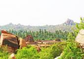 Astounding and huge Hampi  UNESCO World Heritage Site Karnataka  — Stock Photo