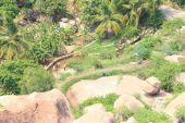 Breathtaking and huge Hampi  UNESCO World Heritage Site Karnatak — Foto de Stock