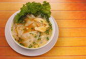 Glass noodle chicken soup thai style — Stock Photo