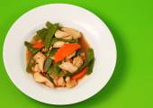 Thai chicken and string beans — Stock Photo