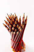 A display of a group of pencils — Stok fotoğraf
