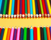 A display of colored pencils — Стоковое фото