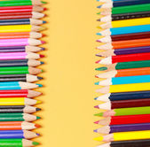 A display of colored pencils — Stock Photo