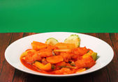 Sweet and sour fish — Stock Photo