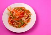 Spicy papaya salad — Stock Photo