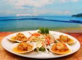 Baked shellfish — Stock Photo