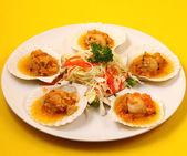 Baked shellfish — 图库照片
