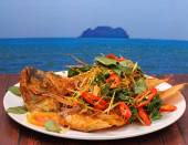 Pescado frito herbal — Foto de Stock