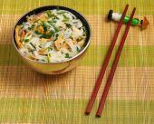 Hanoi pho chicken noodle soup — Stock Photo