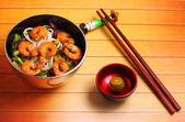 Vietnamees garnalen pho soep — Stockfoto