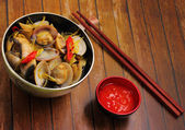 Clam soup — Stock Photo