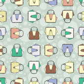 Vector pattern with fashion colorful handbags — Cтоковый вектор