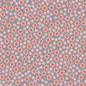 Vector seamless pattern with spring flowers — Vettoriale Stock