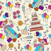 誕生日のシンボルとベクトル パターン — ストックベクタ