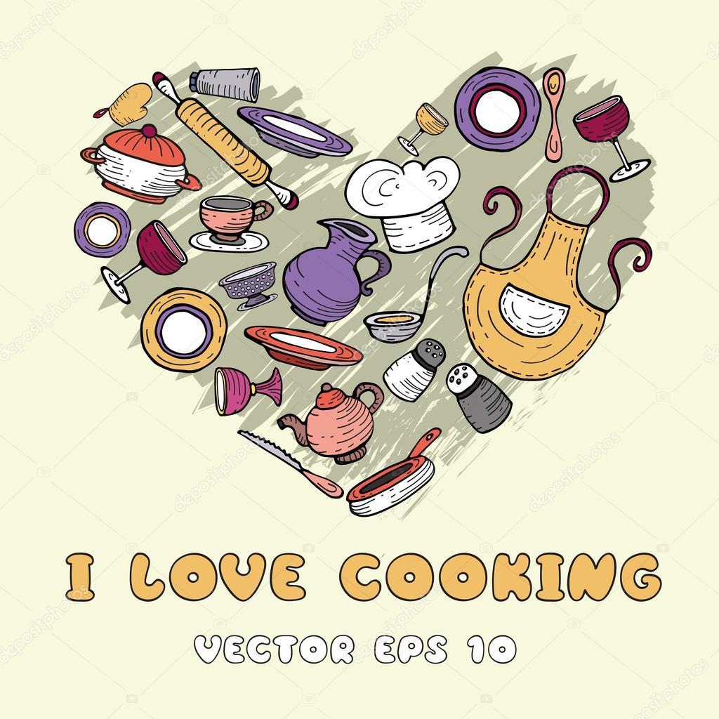 de cozinha dos desenhos animados — Ilustração de Stock #53839675 #A1A12A 1024 1024