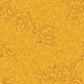 Vector pattern with abstract flowers in yellow color — Stock Vector