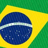 Detalhe da bandeira do Brasil — Vetor de Stock