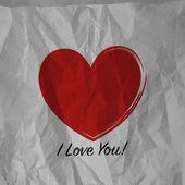Rood hart papier — Stockvector